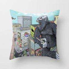 Rocket Boy vs Death Gorilla Throw Pillow