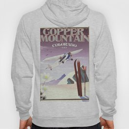 Copper Mountain colorado vintage poster Hoody