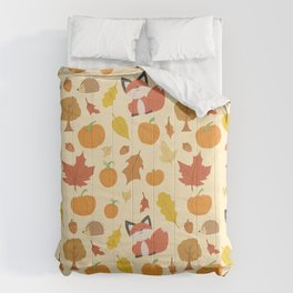 Autumn Fall Delights - A Collage of Fall Icons  Comforters
