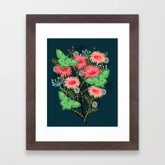 Luna Moth Florals by Andrea Lauren  Framed Art Print