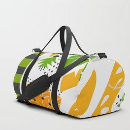 Cute mice in a tropical decor Duffle Bag