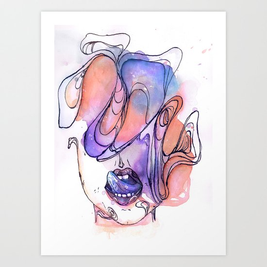 Dirty Thoughts Art Print