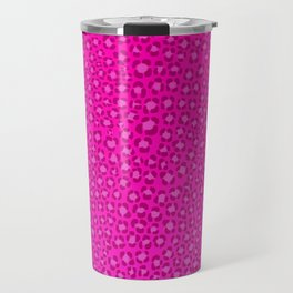 Wild Thing Hot Pink Leopard Print Travel Mug