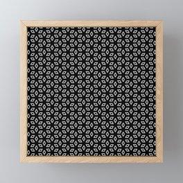 Geometric Petals Dark Framed Mini Art Print