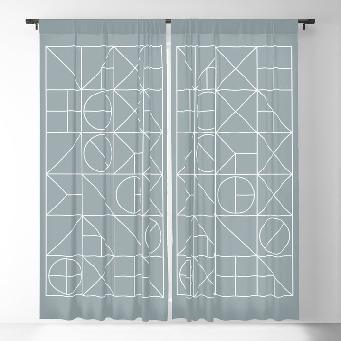 Mid Century Geometric 02 Blackout Curtain