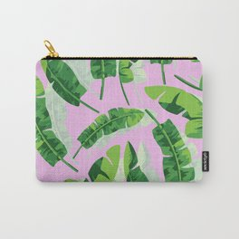Banana Leaf (Pink) Carry-All Pouch
