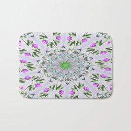 Purple Wildflower Kaleidoscope Art 7 Bath Mat