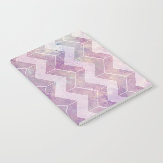 Watercolor pink pattern chevron Notebook