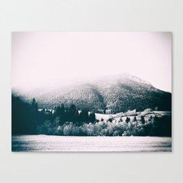 mountains #blackandwhite #photography Canvas Print