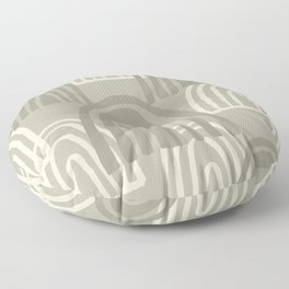 Sketched Rainbows in Stone and Cream Floor Pillow