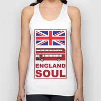 england Tank Tops featuring England Soul by Tony Vazquez