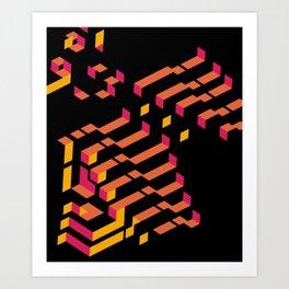 Funky / Hầm hố Art Print