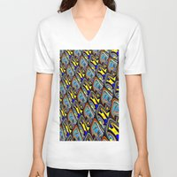 scales V-neck T-shirts featuring Scales by David  Gough