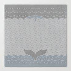 Sea Storm Symmetry Canvas Print