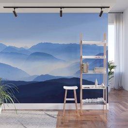 Blue Mountain Horizon Wall Mural