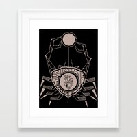 cancer Framed Art Prints featuring Cancer by LydiaS