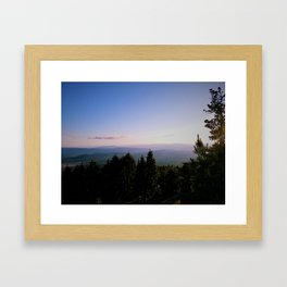 Cascade Mountain View Framed Art Print