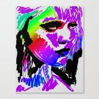 sky ferreira Canvas Prints featuring Sky Ferreira by Simon Falk