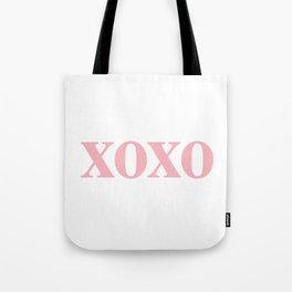 Coral XOXO Tote Bag