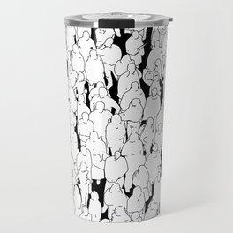 Public assembly B&W / Lineart people pattern Travel Mug