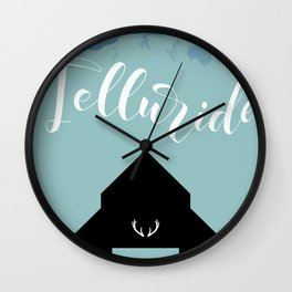 Telluride Colorado Wall Clock