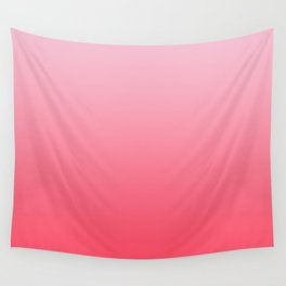 Ombre Pink Rose Gradient Pattern Wall Tapestry