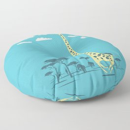 I'm like a bird (blue) Floor Pillow