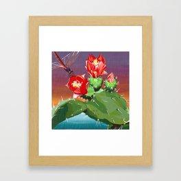 Cactus racket Framed Art Print