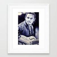 johnny depp Framed Art Prints featuring Johnny Depp by Matteo Felloni Artista