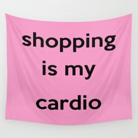 shopping Wall Tapestries featuring SHOPPING by I Love Decor