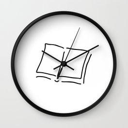 book with sides hard cover Wall Clock