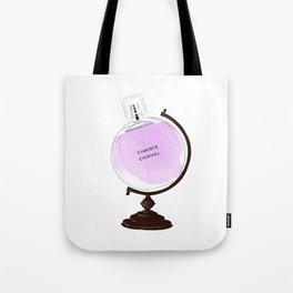 Purple Perfume Globus Tote Bag