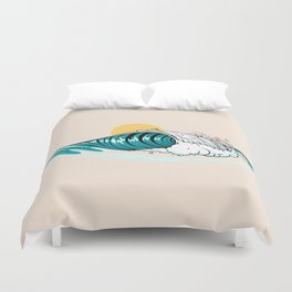 Balinese Wave Duvet Cover