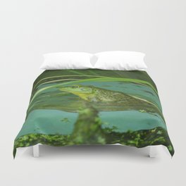 Frog Photography Print Duvet Cover
