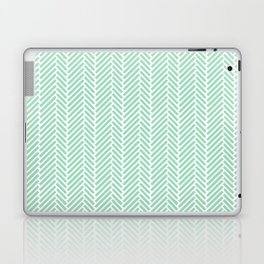 Herringbone Mint Inverse Laptop & iPad Skin