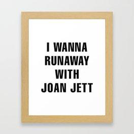 Runaway Joan Jett Framed Art Print