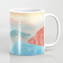 Lines in the mountains XX Coffee Mug