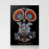 mexican Stationery Cards featuring Mexican Owl by Msimioni