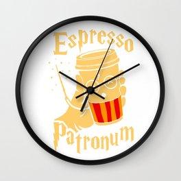 Espresso Patronum 2 Wall Clock