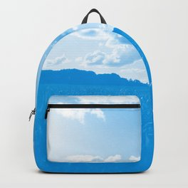 meadow and clouds wb Backpack