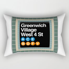 subway greenwich village sign Rectangular Pillow