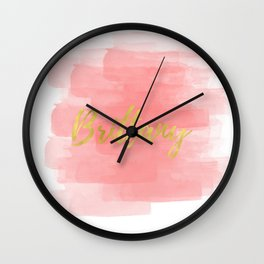 Brittany Gold Coral Wall Clock