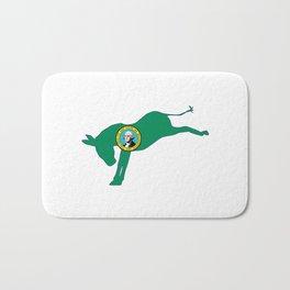 Washington Republican Donkey Flag Bath Mat