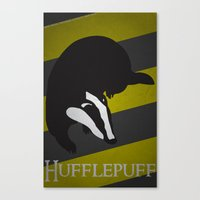 hufflepuff Canvas Prints featuring Hufflepuff by Fanboy's Canvas