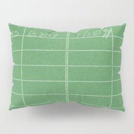 Library Card 797 Negative Green Pillow Sham