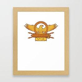 SPQR Roman Eagle Legion Standard Ancient Rome Framed Art Print