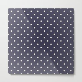 Ultra violet polka dot pattern Metal Print