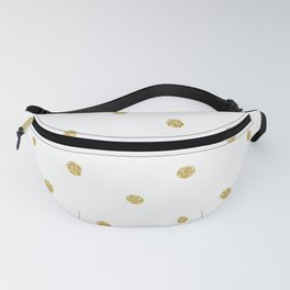 Golden touch I - Gold glitter small polka dots pattern - Confetti Fanny Pack