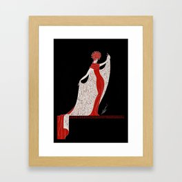 "Art Deco Fashion Design ""Alphabet Cloak"" Framed Art Print"