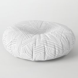 Sketchy Abstract (White & Gray Pattern) Floor Pillow